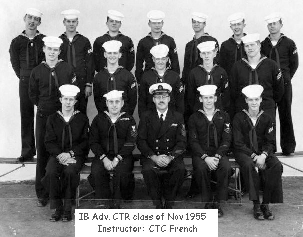 Imperial Beach (IB) Advanced Class 3B-56(R) November 1955 - Instructor: CTC French
