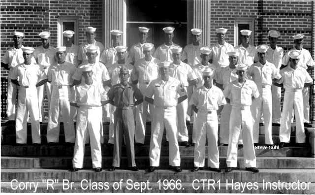 Corry Field CT School Advanced Class xx-66(R) Sep 1966 - Instructor:  CTR1 Hayes