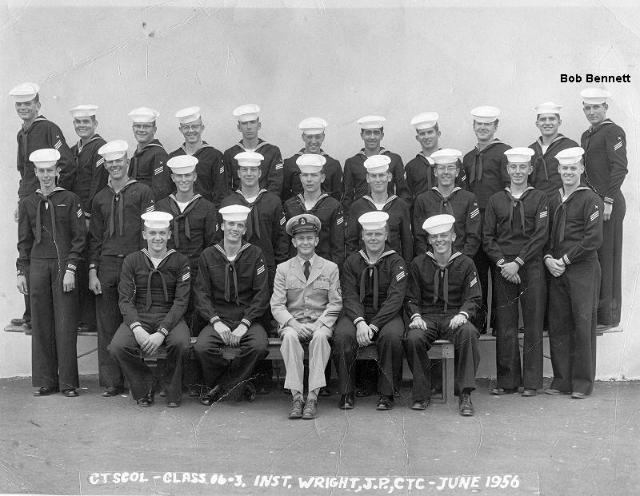 Imperial Beach (IB) Adv. Class 16-3-56(R) June 1956 - Instructor CTC J.P. Wright