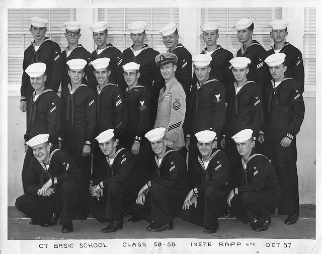 Imperial Beach (IB) Basic Class 5D-58(R) Oct 1957 - Instructor: CTC Rapp