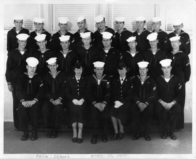 Imperial Beach (IB) Basic Class xx-55(R) April 1955 - Instructor: CT1 Unknown