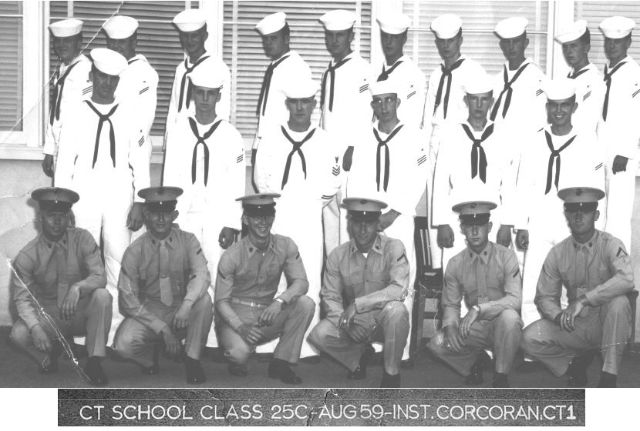 Imperial Beach (IB) Basic Class 25C-59(R) Aug 1959 - Instructor CT1 Corcoran