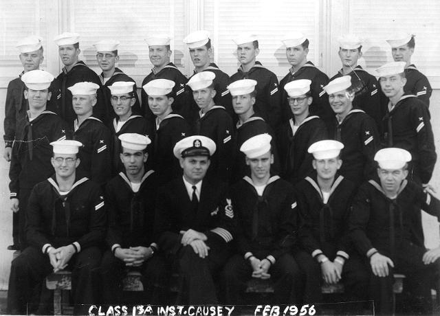 Imperial Beach CT School Basic Class 13A-56(R)  -  February 1956