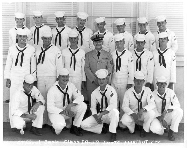 Imperial Beach (IB) Basic Class 1A-58(R)  September 1957 - Instructor CTC Hurlbut