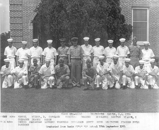 Corry Field CT School Basic Class 02A-65(R) Sep 1964 - Instructor:  CTCA C.A. Carter