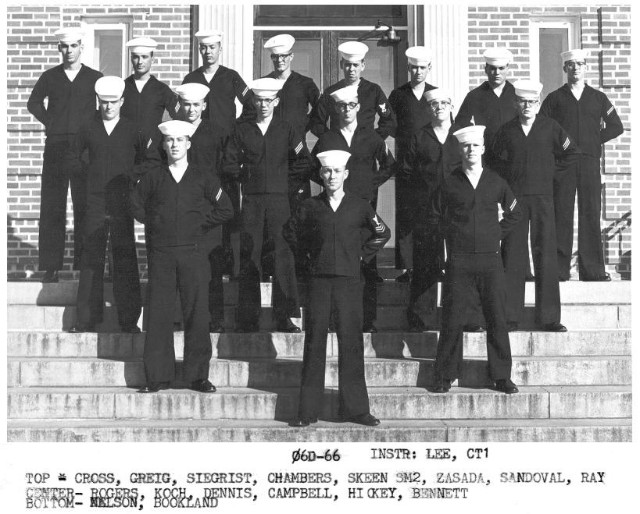 Corry Field CT School Class 06D-66(R) 1966 - Instructor:  CT1 L. G. Lee