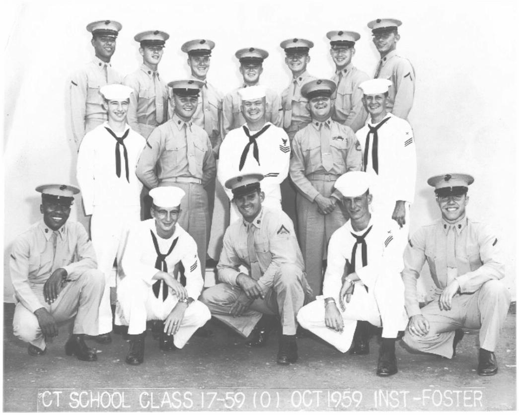 Bob Baker Dodge >> CT School Photos - Imperial Beach (IB) Adv Class 17-59(O) Oct 1959 - Instructor CT1 Foster