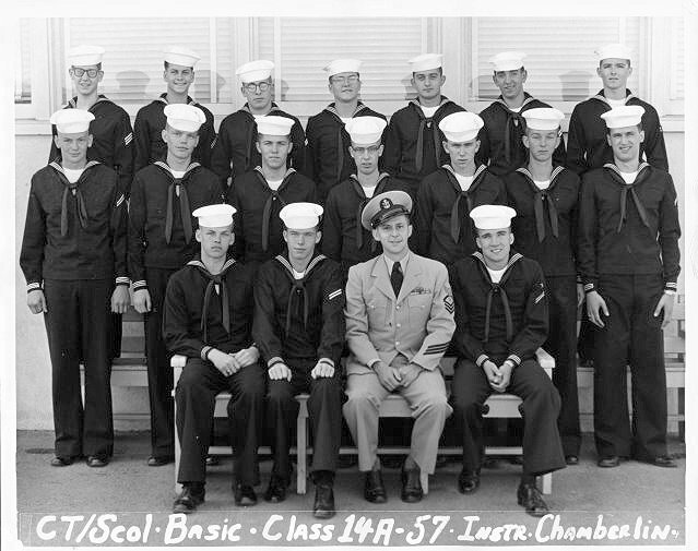 Imperial Beach (IB) Basic Class 14A-57(R) March 1957 - Instructor CTC Chamberlin