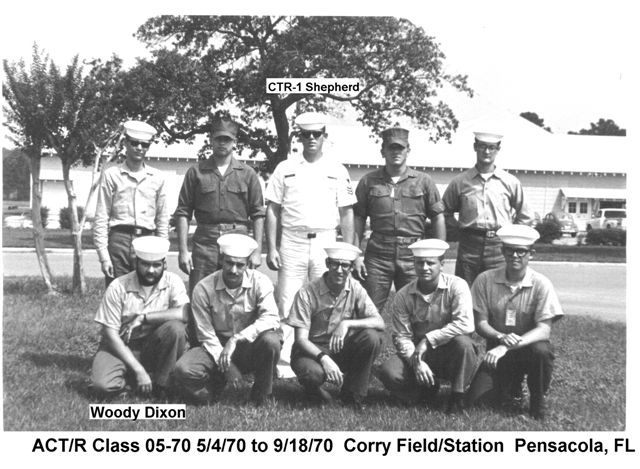 Corry Field CT School CTR Class May 1970 - Sep 1970 - Instructor: CTR1 Shepherd