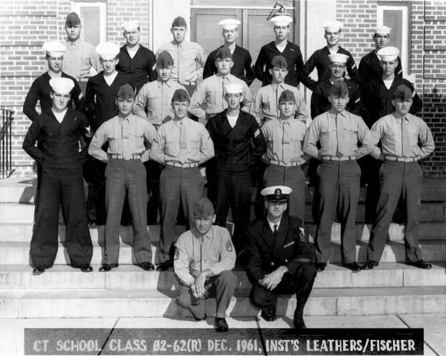 Corry Field Advanced Class 02-62(R) Dec 1961 - Instructors: CTC Leathers/SSGT Fischer, USMC
