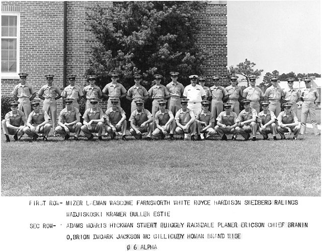 Corry Field CT School Basic Class 06A-67(R) May 1967 - Instructor: CTC Brannin