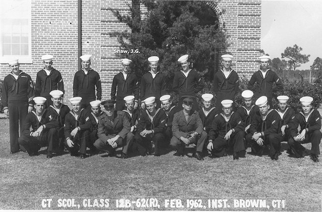 Corry Field CTR Basic Class 12B-62(R) Feb 1962 - Instructor CT1 Brown
