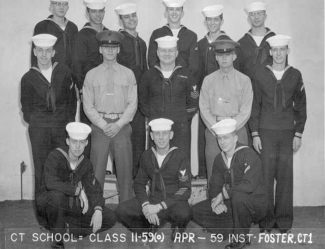 Imperial Beach (IB) Advanced Class 11-59(O) Apr 1959 - Instructor CT1 Foster