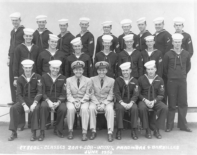 Imperial Beach (IB) CTO Classes 20A and 20B-56(O) June 1956 - Instructors CTC Pradmore and CTC Bareilles