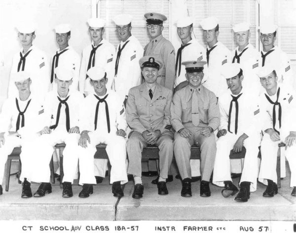 Imperial Beach (IB) Advanced Class 18A-57(R) Aug 1957 - Instructor CTC Farmer