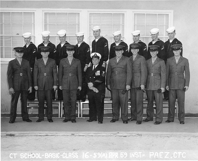 Imperial Beach CT School Basic Class 16-59(R) Apr 1959 - Instructor CTC Paez