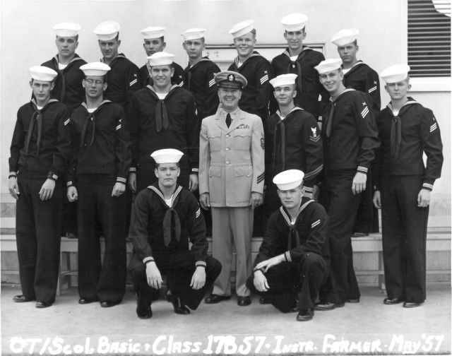 Imperial Beach (IB) Basic Class 17B-57(R) May 1957 - Instructor CTC Farmer