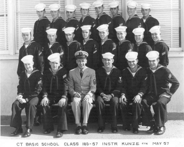 Imperial Beach (IB) Basic Class 18D-57(R) May 1957 - Instructor CTC Kunze