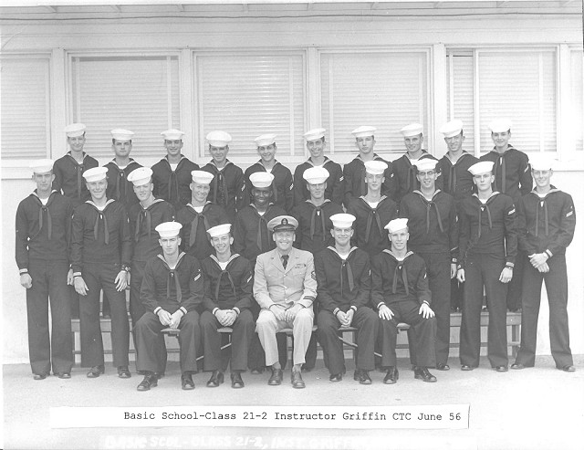 Imperial Beach (IB) Basic Class 21-2-56(R) June 1956 - Instructor CTC Griffin
