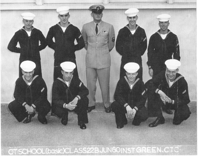 Imperial Beach (IB) Basic Class 22B-60(R) June 1960 - Instructor CTC Green