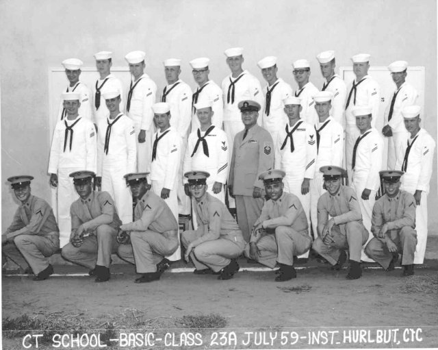 Imperial Beach (IB) Basic Class 23A-59(R) July 1959 - Instructor CTC Hurlbut