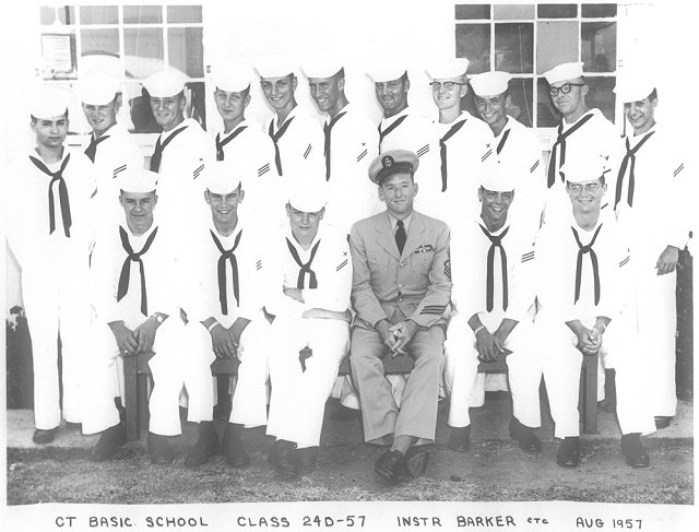 Imperial Beach (IB) Basic Class 24D-57(R) Aug 1957 - Instructor: CTC Baker