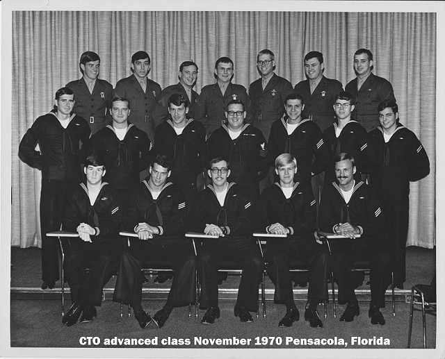 Corry Station CTO Advanced Class of Nov 1970 - Instructor: CTO1 Reese
