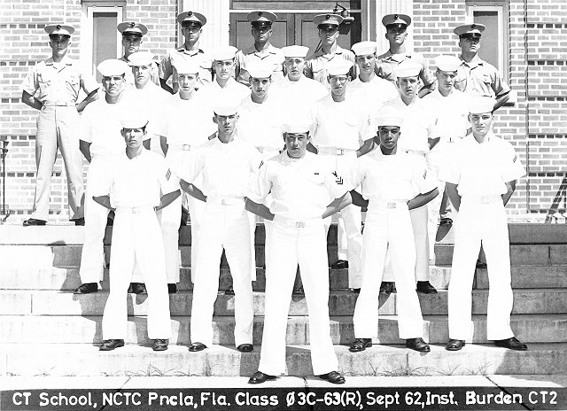 Corry Field (CTR) Basic Class 03C-63(R) Sept 1962 - Instructor CT2 Norm Burden