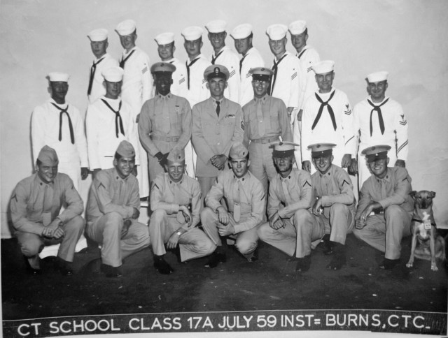 Imperial Beach CTR School Advanced Class 17A-59(R) July 1959 - Instructor:  CTC Burns