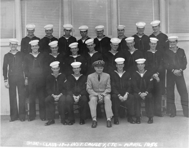 Imperial Beach (IB) Basic Class 17-1-56(R) April 1956 - Instructors CTC Causey